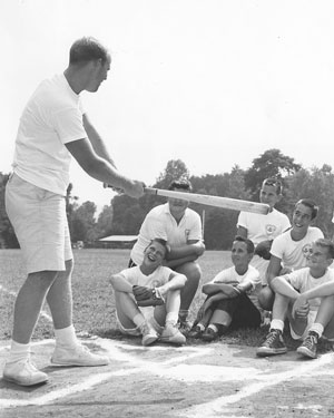 Albert Gooch teaches baseball at Rockmont
